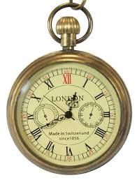 Open Face Mechanical Pocket <b>Watch</b> - Antique <b>Gold</b> (с ...