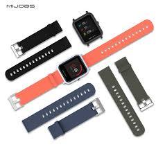 <b>Mijobs</b> 20mm Sports Silicone Wrist <b>Strap</b> for <b>Xiaomi</b> Huami <b>Amazfit</b> ...