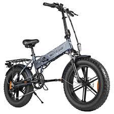 <b>ENGWE EP</b>-<b>2 Folding</b> Fat Tire Electric Moped Bicycle Gray
