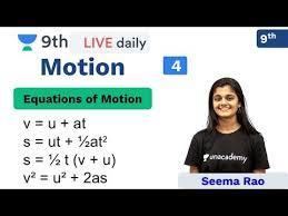 CBSE Class 9: Motion - L <b>4</b> | Physics | Unacademy Class 9 and 10 ...