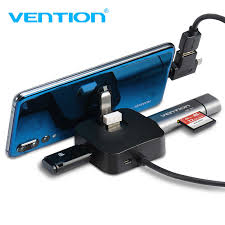 <b>Vention USB</b> HUB 4 Port with Micro <b>USB</b> Power Port&Phone Holder ...