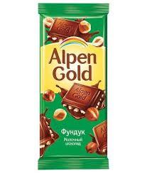 <b>Шоколад Альпен Гольд</b> Фундук <b>Alpen Gold</b> 90 грамм – цена ...