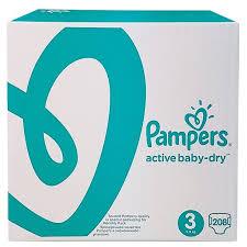 <b>Pampers подгузники Active Baby</b>-<b>Dry</b> 3 (5-9 кг) 208 шт. — купить по ...