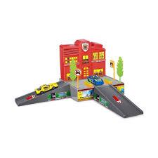 <b>Dave Toy</b> Пожарная станция с 1 машинкой - игровой <b>набор</b> 32018