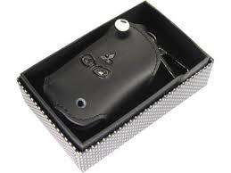 Кожаный <b>чехол для ключа</b> зажигания для <b>MITSUBISHI</b> Черный цвет