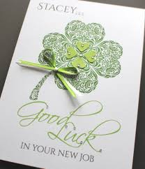 a5 handmade personalised good luck clover card new job exam a5 handmade personalised good luck clover card new job exam leaving driving test