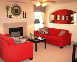 decoration coffee colour wall paint ideas amazing red sofa for living space also shelves also amazing red living room ideas