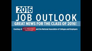 job outlook for class of  job outlook for class of 2016