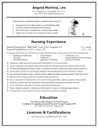 licensed practical nurse resume template resume template example lpn resume example best nursing resume examples new graduate resume template