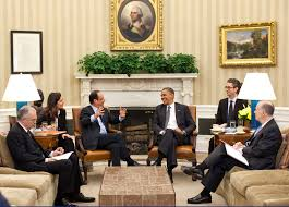 president obama with president franois hollande of france in the oval office may 18 fileobama oval officejpg