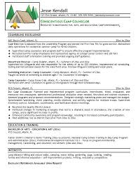camp counselor resume template camp counselor resume