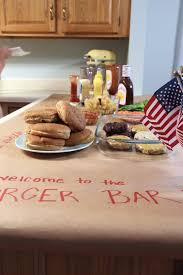 hill collection supper club patriots burgers and admire how it was all laid out how cute are these star trimmed metal buckets for everyone s fries i m a detail oriented gal and i truly