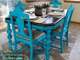 dining table seats distressed