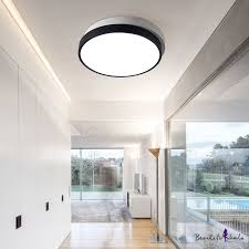 <b>Post</b>-<b>Modern</b> Design Black 2 Round <b>Led</b> Flush <b>Ceiling</b> Light High ...