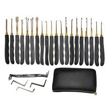 <b>24PCS</b> SINGLE HOOK Lock Pick Set <b>Locksmith</b> Tools Practice ...