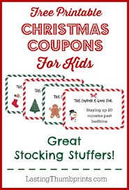 christmas coupons for kids printable christmas coupons for kids great stocking stuffers for cheap that your children will love