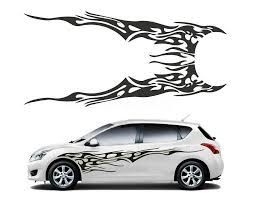<b>1 Pair Car</b> Truck Flame Totem Graphics Side <b>Decal Vinyl</b> Body ...