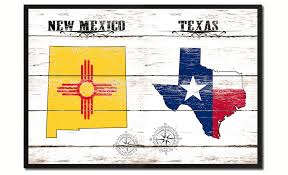 new mexico home decor: texas amp new mexico state flag gifts home decor wall art canvas print picture frames