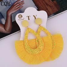 <b>New fashion tassel</b> sequins ladies earrings <b>2019</b> bohemian <b>style</b> ...