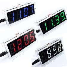 DIY Kit Red <b>LED Electronic</b> Clock Microcontroller <b>Digital</b> Clock Time ...