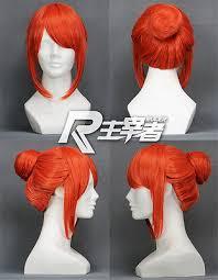 <b>Gintama</b> Kagura Pumpkin Orange <b>Anime</b> Bun Short <b>Costume</b> ...