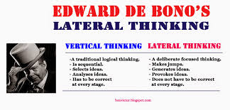 bonvictor pot com edward de bono s lateral thinking vertical thinking moves in the most likely directions lateral thinking moves in the least likely directions vertical thinking develops an idea
