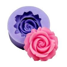 <b>3D Rose Flower</b> Shape Silicone <b>Soap</b> Mold Form Chocolate Cake ...