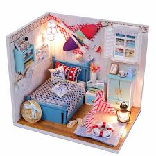 brand new hot hoomeda summer romance diy wood dollhouse miniature cute doll kits toys with led aliexpresscom buy 112 diy miniature doll house