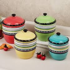Green Kitchen Canister Set Canister Set For Kitchen Kitchen Collections