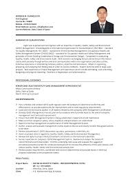 engineering resume format  seangarrette co   resume format for civil