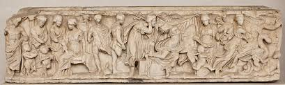 medea writework sarcophagus scenes from the myth of medea the sending of gifts to creusa