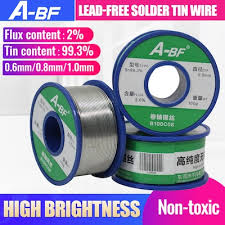 A-BF Lead-free Solder Tin Wire High Brightness No-clean Solder ...