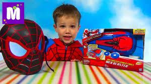 Человек-паук бластер распаковка - YouTube