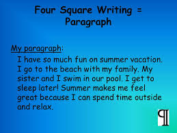 choose a topic write about your favorite summer vacation  four square writing  paragraph my paragraph i have so much fun on summer vacation