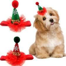 Cat <b>Dog</b> Cute <b>Christmas</b> Hat <b>Sequined</b> Costume Lace Headwear ...