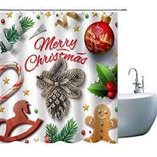 Elite ETSPY <b>Christmas</b> Shower Curtains, Merry <b>Christmas</b> White <b>Ball</b> ...