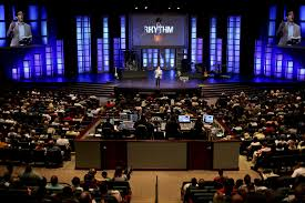 Image result for image megachurch with tv screen