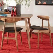 faux leather dining chair black: homesullivan judson scandinavian wood faux leather dining chair in chestnut black
