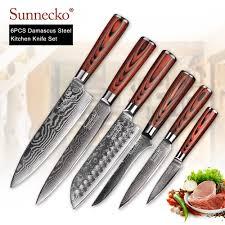 <b>Набор кованых ножей</b> BIGSUNNY, набор кухонных ножей с ...