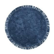 <b>Ковер круглый с</b> бахромой из вискозы ramona синий <b>La Redoute</b> ...