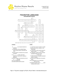 figurative language crossword