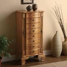 amazoncom coaster home furnishings 4014 traditional jewelry armoire oak jewelry armoires amazoncom antique jewelry armoire