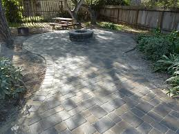 outdoor fireplace paver patio: new circular paver patio gathering spot with fire pit