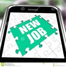new job smartphone shows changing jobs or employment royalty new job smartphone shows changing jobs or employment