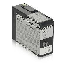 Original <b>Epson T5808 Matte Black</b> Ink Cartridge - Itel Supplies