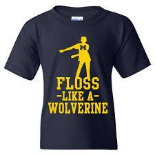 Floss <b>Like</b> a Wolverine University of Michigan Youth Basic Cotton ...