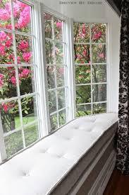 french mattress style window seat cushion love the tufting bay window seat cushion