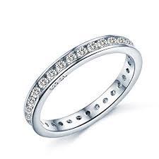 Brilliant Round Cut Eternity Ring - <b>Full AAAAA</b> Cubic Zirconia Crystal...