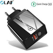 <b>Olaf</b> Quick Charge 3.0 18W USB Charger EU US Super Fast ...