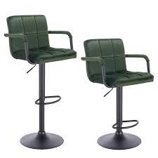 Set of <b>2 bar stools</b> with backrest made of velvet - model Vicky | Woltu ...